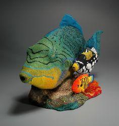 Leslie B.Grigsby's seed bead sculptures