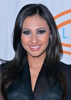 Francia Raisa Long Black Hairstyle with Layers   Hairstyles Weekly