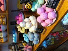 LUSH Bath Bombs. Love LUSH: ALL natural, minimal environmentally conscientious packaging, and against animal testing.