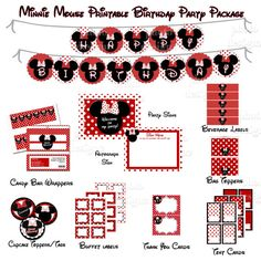50 off  DIY Printable Minnie Mouse Inspired  by photodesignz, $5.00