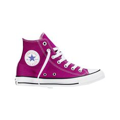 Converse Chuck Taylor All Star High Top Sneaker - Pink Sapphire Casual... ($35) ❤ liked on Polyvore featuring shoes, sneakers, casual footwear, casual shoes, pink, hi tops, high top shoes, converse high tops, converse footwear and star sneakers
