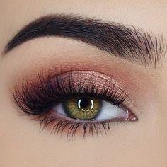 Peach eye makeup #eyeshadow #makeup