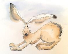 Limited edition print - Stretching hare, hare print, hare picture