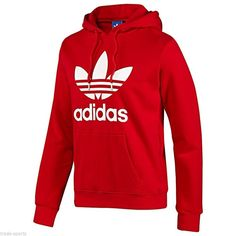 (Unisex) Adidas - Red Cotton Polyester Hoodie Excellent condition. The price is not firm.  Make an offer and no trade.  The Men's size is Medium  The women's size is either Medium or Large. Adidas Tops Sweatshirts & Hoodies