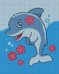 Cross Stitch Sea, Cute Cross Stitch, Cross Stitch Animals, Cross Stitch Charts, Cross Stitch Designs, Cross Stitch Patterns, Crochet Stitches Patterns, Loom Patterns, Embroidery Stitches