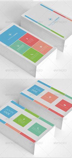 Multicolor Carte De Visite Graphisme Minimale Cartes Lgantes