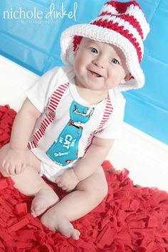 Dr Seuss Inspired Cat in the Hat Tie & by SewBeachyBoutique, $18.00