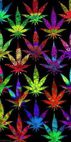 Pot Leafs Marijuana Art - CannabisTutorials.com