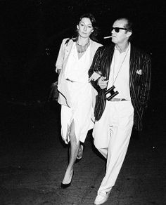 anjelica huston and jack nicholson, 1985