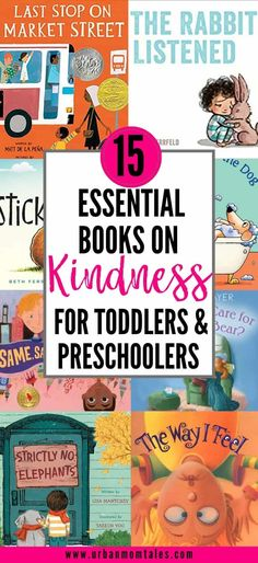 15 Essential Books on Kindness for Toddlers & Preschoolers · Urban Mom Tales Toddler Learning, Toddler Preschool, Toddler Activities, Toddler Books, Toddler Meals, One Year Old Foods, Books About Bullying, Baby Food By Age, Toddler Schedule
