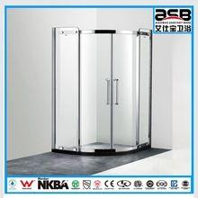 China forma de arco de 8 mm templado transparente aseo recinto baño de vidrio