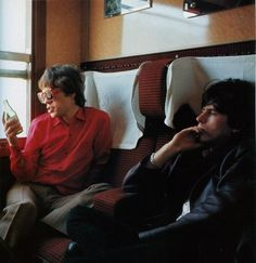 The Rolling Stones on the Paris-Marseille train. June 1965.