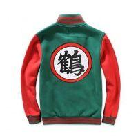 Dragon Ball Z baseball jacket green Crane immortal cosplay costume for teens