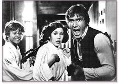 A gallery of Star Wars publicity stills and other photos. Featuring Mark Hamill, Harrison Ford, Carrie Fisher, Anthony Daniels and others. Star Wars Rebels, Star Wars Cast, Star Wars Meme, Star Trek, Film Science Fiction, Por Tras Das Cameras, Nave Star Wars, Princesa Leia, Han And Leia