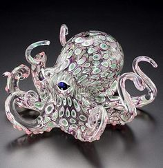 Soul Glass Octopus Special Art Sculpture Series - Crystal-Fox Gallery