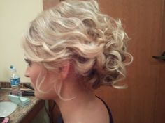 Pretty wavy updo-hair by Heather Lummus |Pinned from PinTo for iPad|