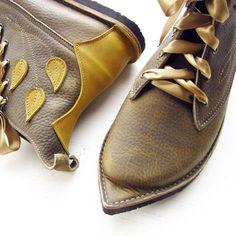 UK 5, MUSTARDSEED Pimpernel in Mossy Mottle   Fairysteps - Shoes & Bags