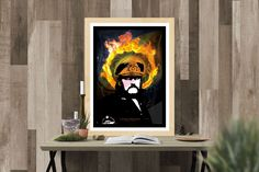 Lemmy Kilmister - Illustration by MSaHomeDesign on Etsy
