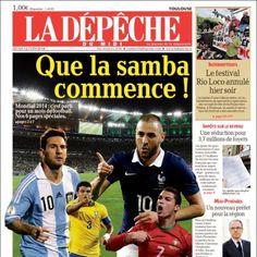 Jornais do mundo exaltam início da Copa de 2014 http://esportes.terra.com.br/futebol/copa-2014/jornais-do-mundo-exaltam-inicio-da-copa-de-2014-veja-capas,cf56034c5df86410VgnVCM3000009af154d0RCRD.html