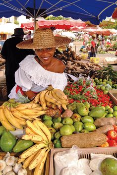 Caribbean Market - Imagine the smells, flavours and taste of real fruits,vegetables and spices