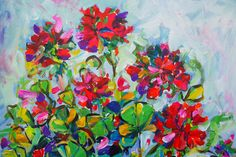 Katerina Apale Geranium, detail facebook.com/katerina.apale.art Instagram Apale.art bluethumb.com.au/katerina-apale #katerinaapale #apaleart #geranium #blossom #flowers #painting #australianart Australian Art, Geraniums, Bloom, Abstract, Bouquets, Flowers, Painting, Artists, Inspiration
