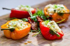 Feta and Couscous Stuffed Peppers  #Coutet #Barsac #Sauternes #Wine #Vin