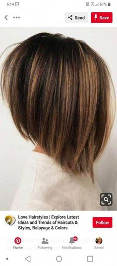 These 23 Inverted Bob Haircuts Are Trending in 2019 - Style My Hairs Inverted Bob Haircuts, Stacked Bob Hairstyles, Cool Haircuts, Bobs For Thin Hair, Balayage Color, Lob Hairstyle, Playing With Hair, Haircut And Color, Cute Cuts