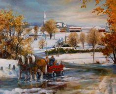 Première neige, Chesterville ~ Lise Auger