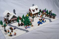 Lego Christmas Village, Lego Winter Village, Christmas Scenery, Christmas Villages, Christmas Time, Xmas, Holiday, Lego Projects, Projects To Try