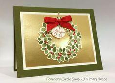 Stampin up stampin' up! stamping stamping pretty mary fish wondrous wreath