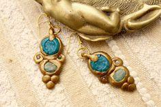 Boucles d'oreilles Rome Antique byzantines par MesOdalisques