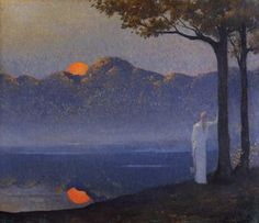 The silence - Alphonse Osbert  - The Muse at Sunrise, 1918