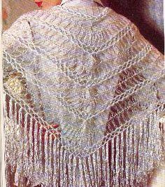 chale crochete a la fourche - modèle ressemblant à celui de gaelle