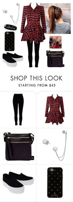 """""""Cut the sh*t,be real with me"""" by paoladouka on Polyvore featuring River Island, Jupe de Abby, Bling Jewelry, Kate Spade and Allurez"""