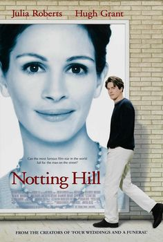 Notting Hill with Hugh Grant and Julia Roberts #movie #film #romantic