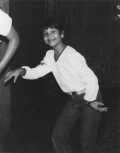 Legendary Tejano singer, at age 8 (approximately 1979). / SA