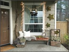 Little Brags: DIY Christmas Moss Stars For The Front Porch