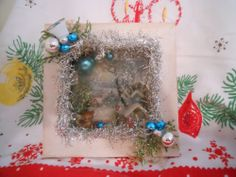 Vintage Christmas Shadow Box