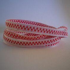 Rentrée scolaire - bracelet  3 rangs en tissu blanc et rouge - idée cadeau…