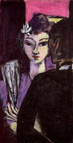 (10) Tumblr Max Beckmann (German, 1884 - 1950) Girl with Drawers (Mädchen mit Fächer), 1942 Oil on canvas
