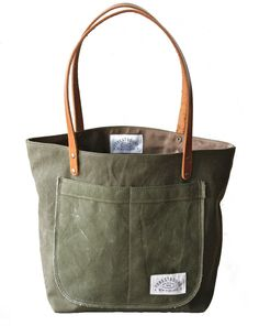Green Canvas Tote / BRIKA
