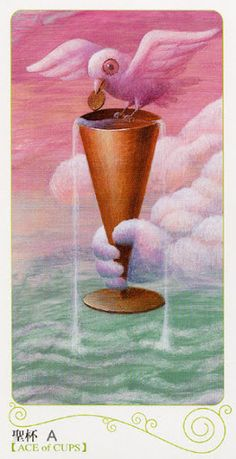 Tarot of the Magical Forest - Ace of Cups Ace Of Pentacles, Cards On The Table, Zodiac Elements, Vladimir Kush, Cup Art, Cartomancy, Magical Forest, Secrets Revealed, Graveyards