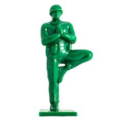 More zen than any other soldier toys you've come across, this set of nine Yoga Jones figurines channels a sense of self-peace. Each solider is in a classic yoga pose: downward-facing dog, cobra pose, warrior pose, child's pose, headstand and more...