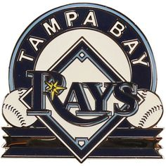 Bring a touch of Tampa Bay pride to your outfit with this handsome team pin from WinCraft. Vibrant enameled graphics won't fadejust like your Rays fervor! The pin fastens securely at the back and the small size makes a great, subtle addition to lapels and Mlb Uniforms, Bay Sports, Golf Stores, Tampa Bay Rays, Fan Gear, Buick Logo, Logos, Sharks, Ocean