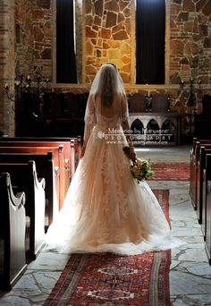 Natural, morning light at Lanier Chapel in NW Houston, gave us amazing images of this gorgeous bride and wedding gown!