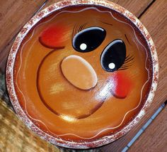Decorative Gingerbread Wood Bowl by PaintingByEileen on Etsy,