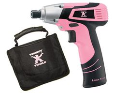 Tomboy Tools 8v Impact Drill   www.tomboytools.com/dianezb61  Our gear driven drill is designed exclusively for Tomboy Tools. This lightweight drill weighs under 2 lbs. and features a bright LED light, rubber-grip handle and cutting-edge lithium-ion battery technology. Compatible with Hex base drill bits. Includes: High quality canvas drill case, 2 drill tips, and battery charger.