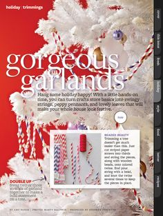 Garland from paper straws