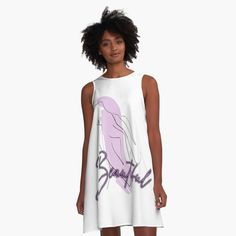 'Beautiful design' A-Line Dress by Cheap T Shirts, I Dress, Line Art, Chiffon Tops, Athletic Tank Tops, Cool Outfits, Nude, Silhouette, Female