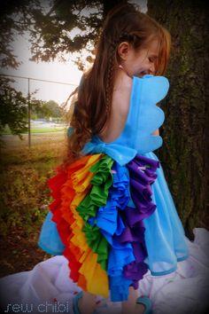 My Little Pony Rainbow Dash Dress. $125.00, via Etsy.
